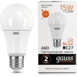 Лампа светодиодная Elementary A60 15Вт E27 1320lm 3000K