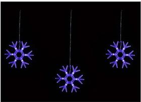 ULD-E1503-036/DTA BLUE IP20 SNOWFLAKES-1 Занавес светодиодный фигурный Снежинки-1, 1,5х0,3м. 6 подвесов. 36 светодиодов. Синий свет. Провод