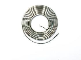 Припой-спираль ПОС-90 без канифоли диаметр 1,0 мм, 1 метр