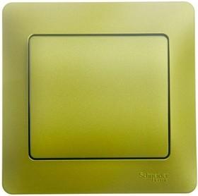 GLOSSA выключатель 1-клавишный в сборе сх.1 фисташковый