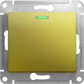 GLOSSA выключатель 1-клавишный с подсветкой механизм сх.1а фисташковый