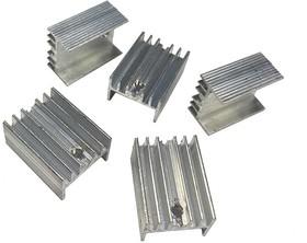 Радиатор транзистора из алюминия ТО-220 5 шт