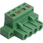 KLS2-EDCKM-5.00-04P-4S (5ESDVM-04P), Клеммник на кабель 4-контактный, 5мм