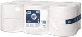 120238, TORK MINI JUMBO TOILET ROLL 2PLY