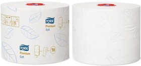 127520, TORK SOFT MID-SIZE TOILET ROLL 2 PLY