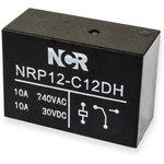 NRP-12-C-12D-H, Реле 1 пер. 12VDC / 10A, 250VAC