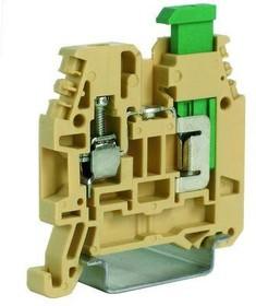 Зажим проходной винт 4кв.мм - прорезание изоляции 1.5кв.мм беж. DKC ZNC200