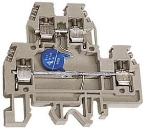 Зажим проходной DAS.4/V120. 2-х уровн. 4кв.мм с варистором 120В беж. DKC ZDSV120