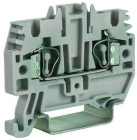 Клемма пруж. HMM.6GR 6кв.мм сер. DKC ZHM320GR