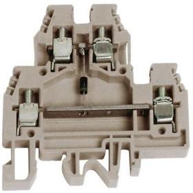 Зажим проходной DAS.4/T 2-х уровн. с индик. напряж. беж. DKC ZDS128