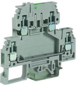 Зажим DSFA.4/L24 2-х уровн. верхний под предохранитель 4кв.мм беж. с микросхемой LED 24В DKC ZDA124