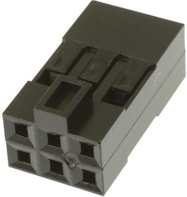69176-006LF, WIRE-BOARD CONNECTOR RECEPTACLE, 6 POSITION, 2.54MM