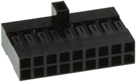 65846-008LF, WIRE-BOARD CONNECTOR RECEPTACLE 18 POSITION, 2.54MM