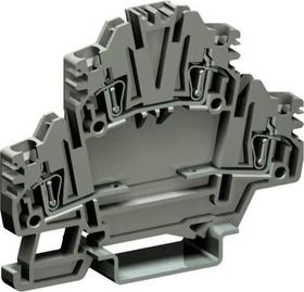 Зажим HMD.2N/X/GR клеммн. 2-х уровн. пружинный 2.5кв.мм сер. DKC ZHD440GR