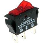 ASW-09D (красный), Переключатель с подсветкой ON-OFF (20A ...
