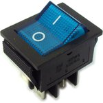 IRS-201-2B3 (синий), Переключатель с подсветкой ON-OFF (15A ...