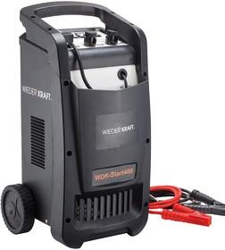 Пуско-зарядное устройство WIEDERKRAFT WDK-Start400 12/24в, 220в,Вес 17кг макс.пуск. ток 400