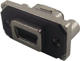 Фото 1/3 MUSBB15134, Разъем USB, Mini USB Типа B, USB 2.0, Гнездо, 5 вывод(-ов), Монтаж в Сквозное Отверстие