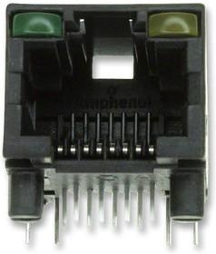 RJHSE-5085, Модульный разъем, Cat5, RJ45 Jack, 1 x 1 (Port), 8P8C, Cat5, Монтаж в Сквозное Отверстие