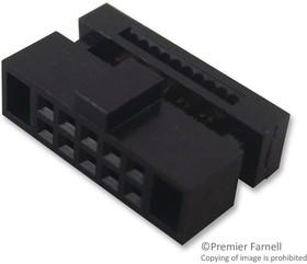 20021444-00006T4LF, Разъем типа провод-плата, 1.27 мм, 6 контакт(-ов), Гнездо, Серия Minitek 127 20021444, IDC / IDT