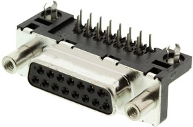 D15S33E4GV00LF, CONNECTOR, D SUB, RECEPTACLE, 15 POSITION