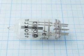 Фото 1/3 кварцевый резонатор 400кГц в стеклянном корпусе С 400 \СГ\\\ /-10~60C\СГ-18БЧ\1Г 19x43