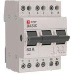 Переключатель трехпозиционный 3п 63А Basic EKF tps-3-63