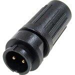 PY07-2Z, вилка на кабель пластик. IP67 4А 250В