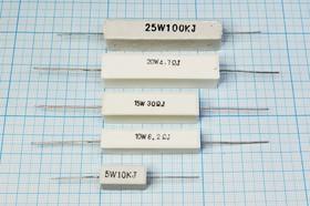Резистор проволочный мощный (цементный) SQP 25 Вт, 1 кОм, 5%, Р 1,0К\ 25\AXI 60,0x14,0x13,0\ 5\WW\2L\SQP25\