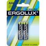 Элемент питания алкалиновый LR03 BL-2 1.5В Alkaline (блист.2шт) Ergolux 11743