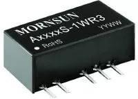 A0505S-1WR3, DC/DC преобразователь, 1Вт, вход 4.5-5.5В, выход 5,-5В/100мА