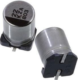 Фото 1/3 EEHZA1K220P, электролитический конденсатор 22мкФ, 80В, радиальн выв 8x10.2