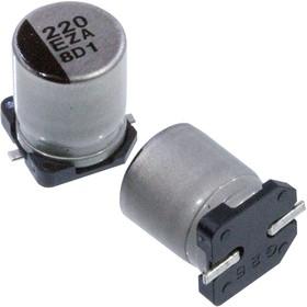 Фото 1/4 EEHZA1E221P, электролитический конденсатор 220мкФ, 25В, радиальн выв 8x10.2