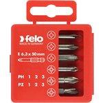 Набор бит PZ1-3 и PH1-3 50мм в упаковке (уп.6шт) Felo 03291516