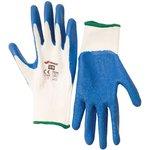 Перчатки полиэстер с латексным риф. покрытием 9/L 27654