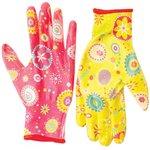 Перчатки полиэстер с нитрил. прозрач покрытием 7/S 27691
