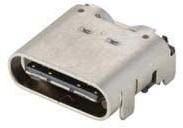 10137065-00021LF, USB-C RECPT RA TOP MOUNT SMT SHORT BODY