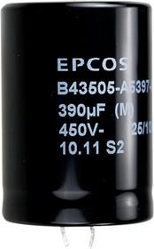 ECAP (К50-35), 390 мкФ, 450В , B43505-A5397-M, Конденсатор электролитический алюминиевый
