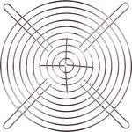 JL-18065, решетка для вентилятора 180х180мм