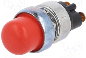 A2-19-14-A2, Переключатель кнопочный, 1, SPST-NO, 60A/12ВDC, красный, IP40