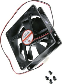 EC9225HH12B, Вентилятор 12В, 92х92х25мм , подш. качения, 3000 об/мин