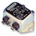 FN2010-1-06, Фильтр ЛЭП, монтаж на каркас, 0.1 мкФ, 250 В AC, 1 А, Универсальный, Быстрое Соединение, 12 мГн