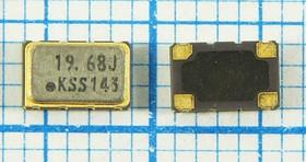 Термокомпенсированный кварцевый генератор 19.68МГц, 2.5ppm/-30~+80C, гк 19680 \VCTCXO\SMD05032C4\ SIN\3В\VC-TCXO-208C\