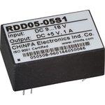 RDD05-05S1, DC-DC преобразователь, 5Вт, вход 9-18В, выход 5В/1А