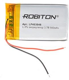 Фото 1/2 LP403048, Аккумулятор литий-полимерный (Li-Pol) 560мАч 3.7В, с защитой