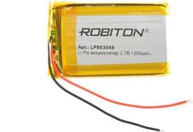 Фото 1/2 LP803048, Аккумулятор литий-полимерный (Li-Pol) 1200мАч 3.7В, с защитой