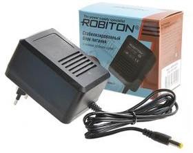 Фото 1/2 ROBITON AB9-800S (-) 5,5х2,1/12, Адаптер/блок питания