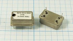 Термокомпенсированный кварцевый генератор 20МГц, 1.5ppm/-10~+70C, гк 20000 \TCXO\FULL\SIN\ 5В\RFX9214-2000\