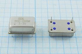 Кварцевый генератор 200МГц 3.3В, HCMOS/TTL в корпусе FULL=DIL14, гк 200000 \\FULL\T/CM\ 3,3В\OSC14\SDE