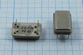 Управляемый напряжением (VCXO) кварцевый генератор 20.525МГц с перестройкой ПЧ:+/-150ppm, гк 20525 \VCXO\ГАБАРДИН\SIN\ 5В\VCXO-ГАБАРДИН\
